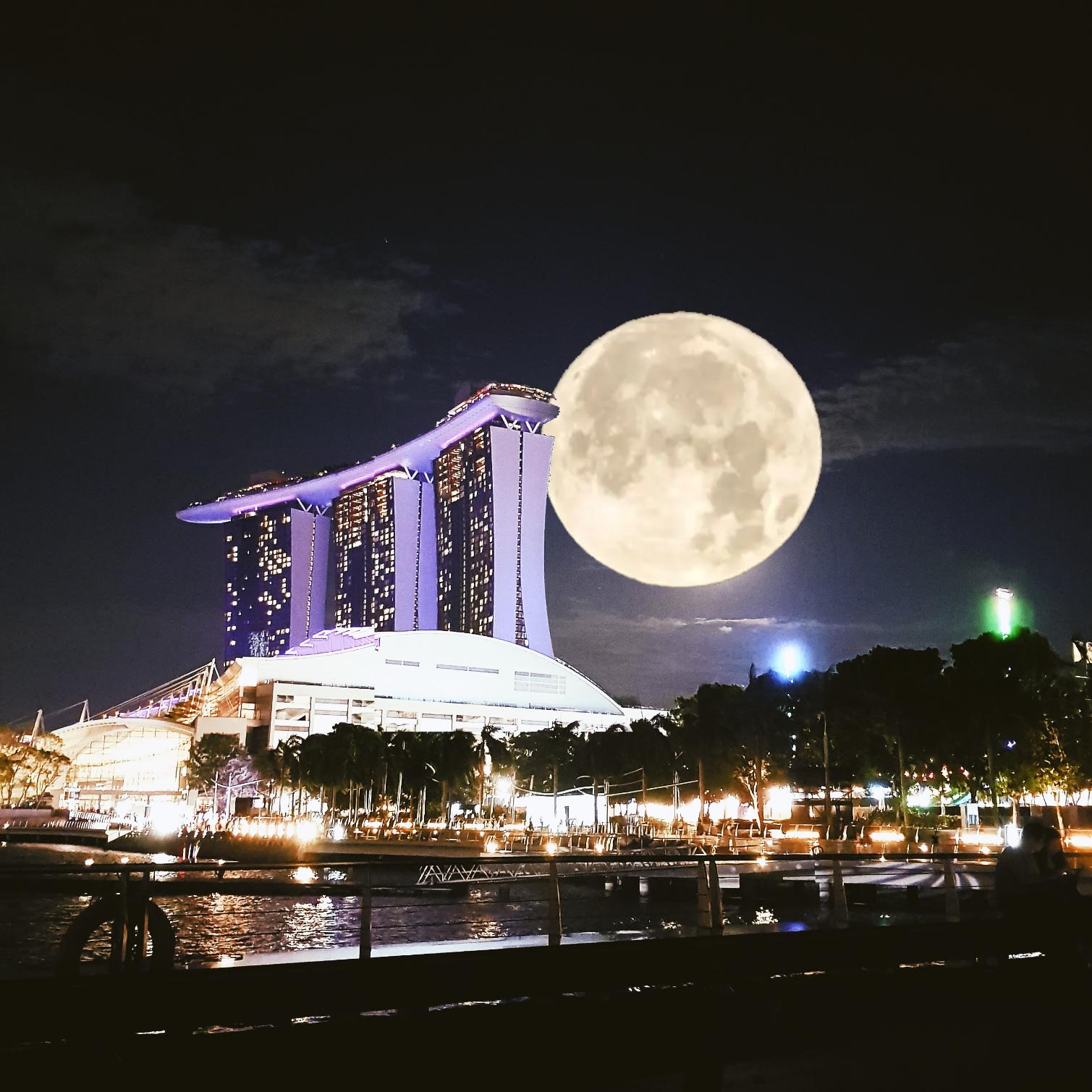 シンガポールスーパームーン