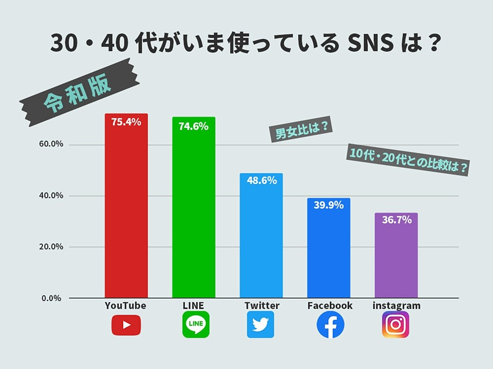 シンガポール広告 SNSチャート