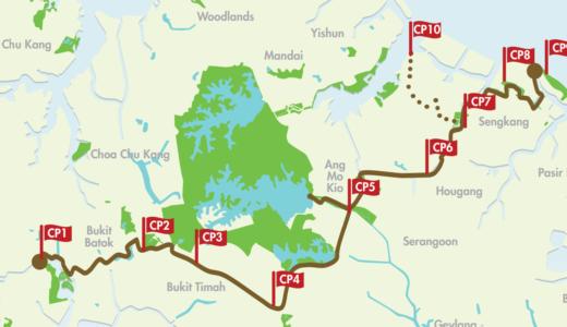 シンガポール散歩コース 、計36kmコース を約6時間で完走できるよw