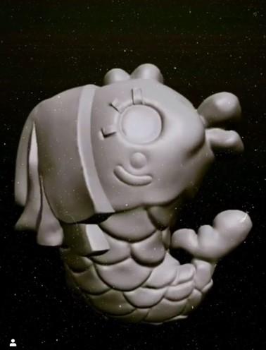 ハロアジマーライオン 3D 立体