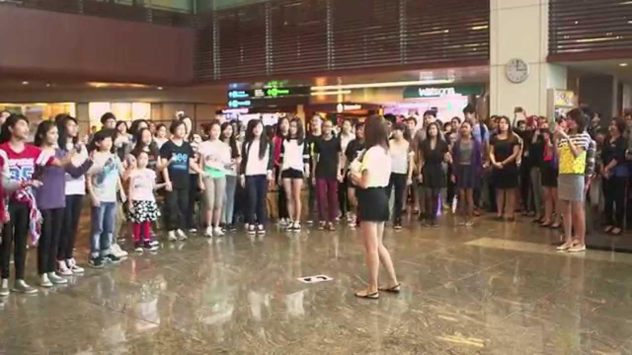 シンガポールチャンギ空港 でプロポーズ