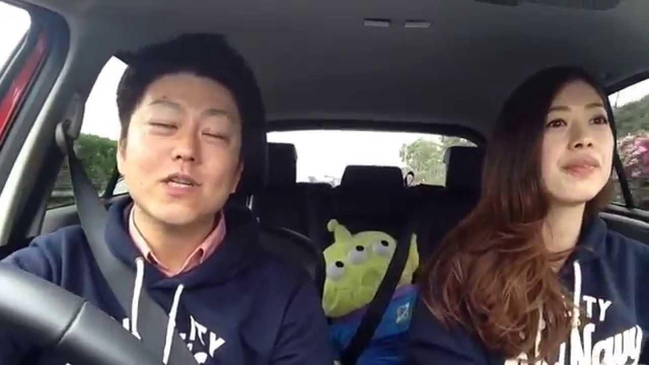 素敵なカップルのアナと雪の女王口パク動画