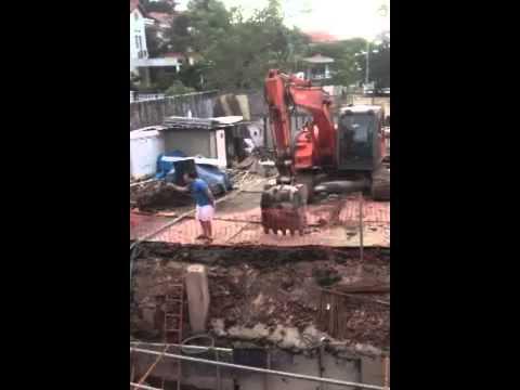 シンガポール建築現場の騒音でイライラか