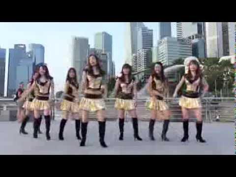 シンガポール日本人夫人マーライオンなどの前でダンス♡