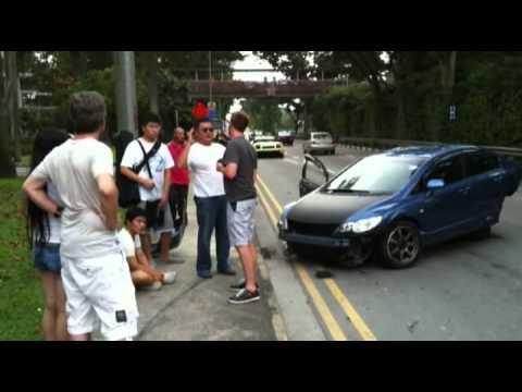 【シンガポール事故】 ランボおしゃか