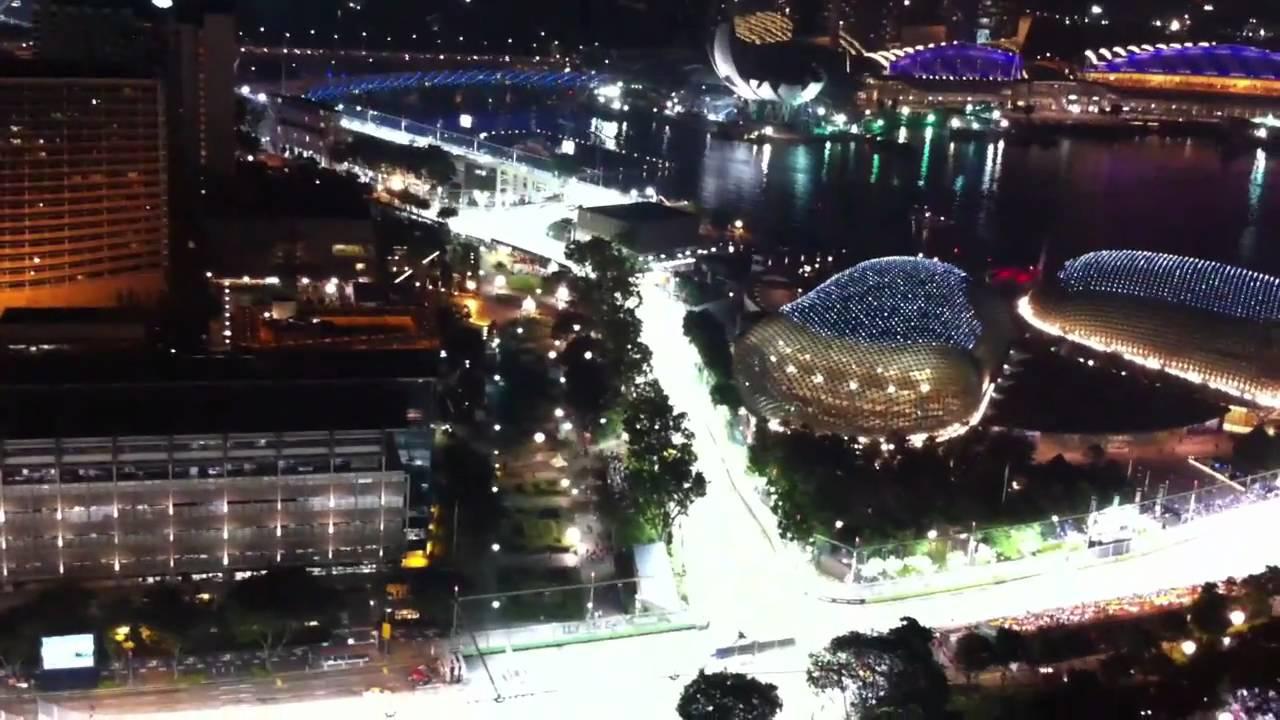 シンガポールスタンフォードホテルから見た、シンガポールF1グランプリ