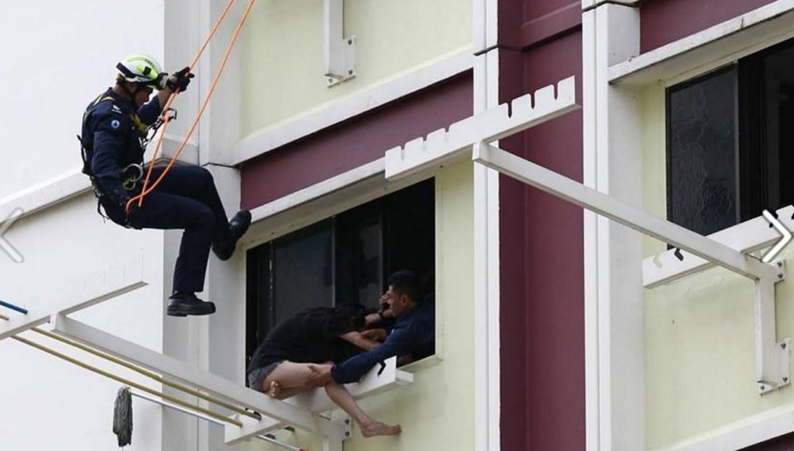シンガポールHDBの6階で自殺未遂