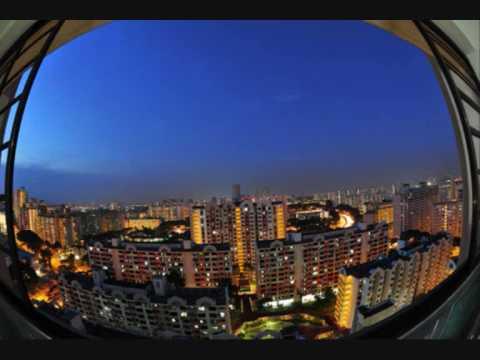 シンガポールHDB、夕方から夜に入る瞬間ゲット(ゴールデンタイム)!