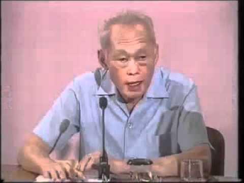 シンガポールリークアンユ、ISAに関しスピーチ