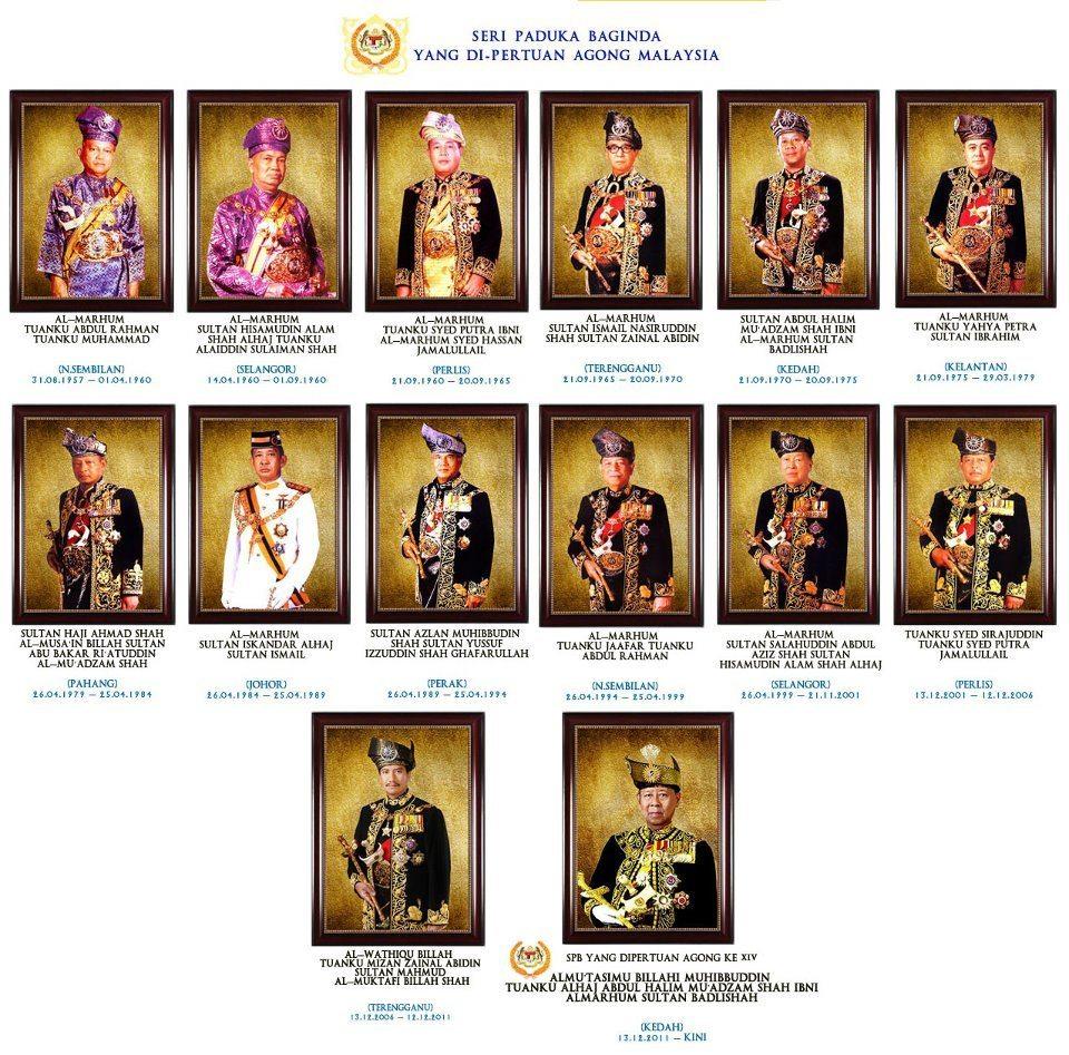 ハローアジアマレーシア、歴代の王様集めてみた