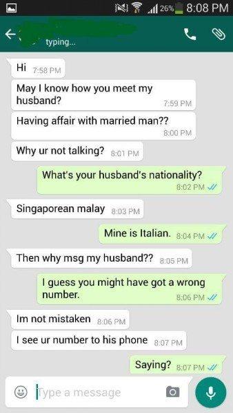 シンガポール浮気相手に問い合わせてみたら…w