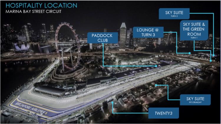 F1シンガポール 地図