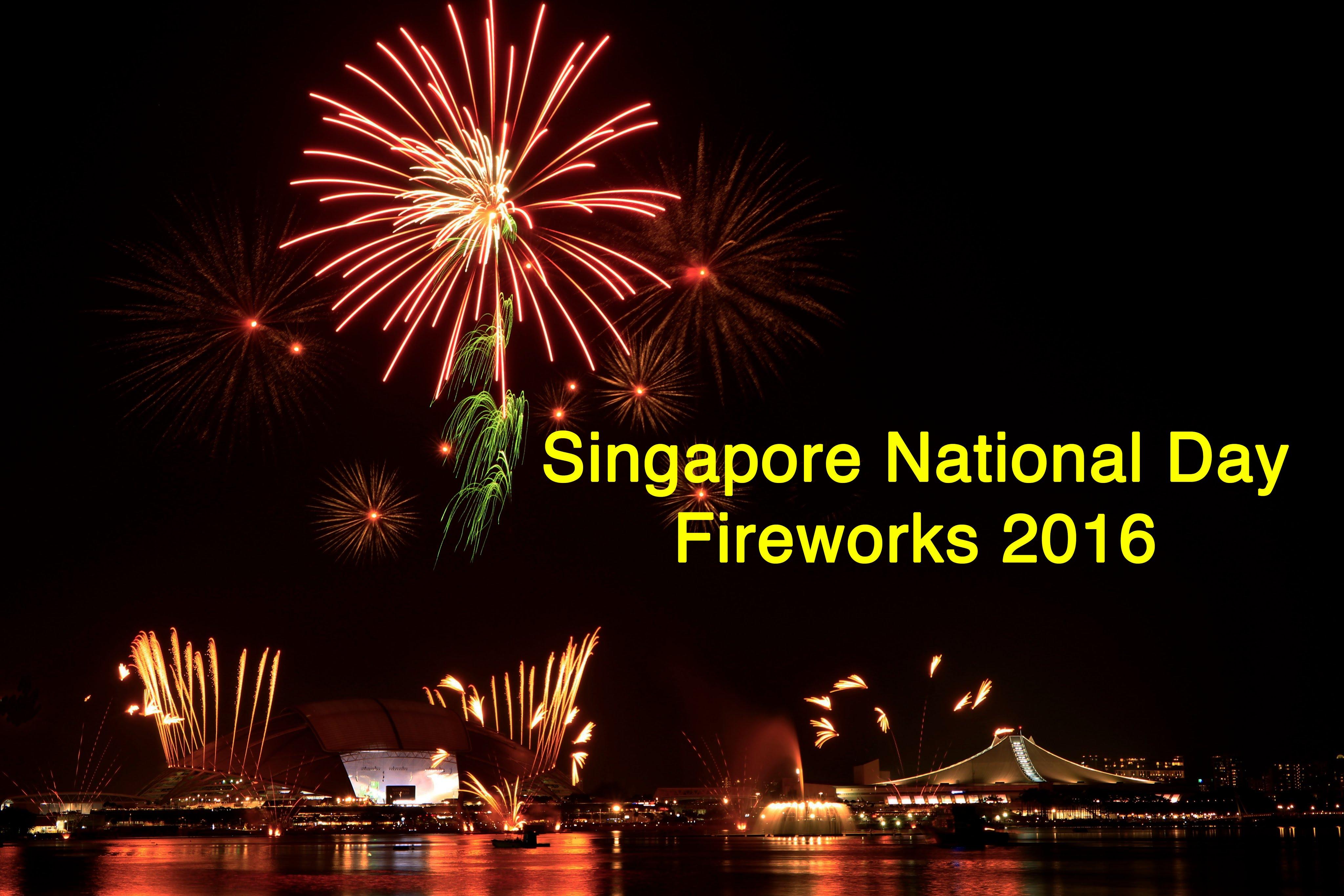 2016年シンガポール国立記念日、フィナーレ シンガポール 花火!