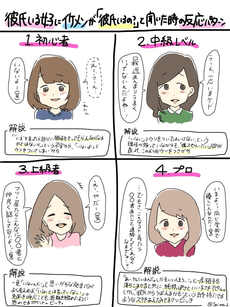 【JAPAN GIRLS】 Types of Lies girls give when asked if they have a BF