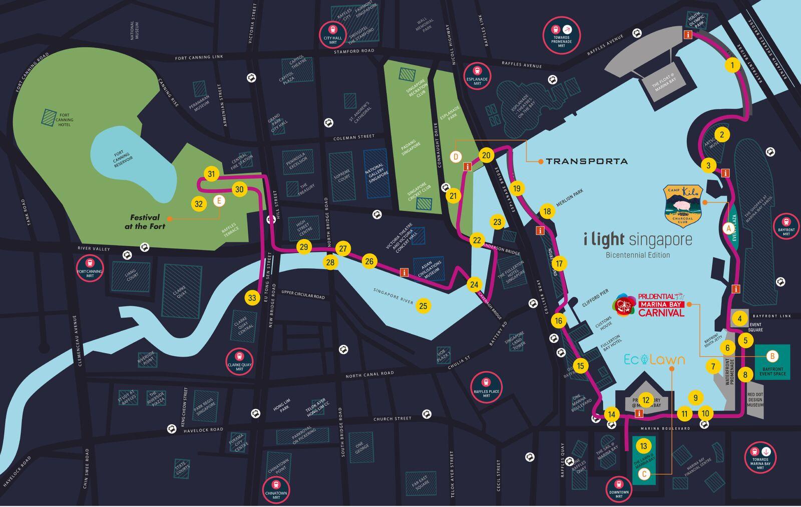 #iLight シンガポール地図