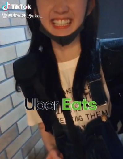 Japan's UBER EATS pretty girl