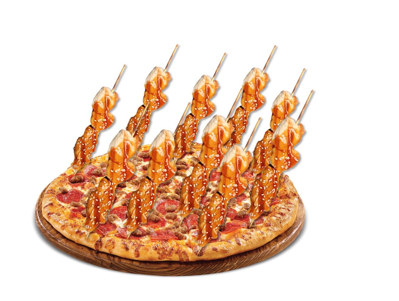 シンガポールPIZZA HUTで1FOR1やってるけどww 新メニューの 焼き鳥ピザ が気になるしかないw