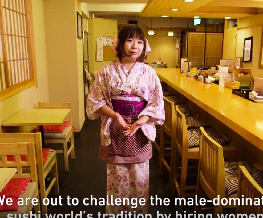 確かに女性の寿司職人ってあまり見ないね!