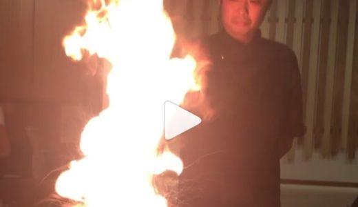 シンガポール 火ラーメン w マジで火が出してワロたw