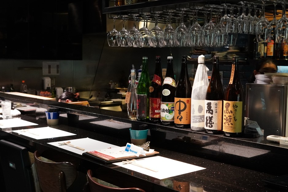 Singapore Shun Sakemaru sake counter Cuppage 2