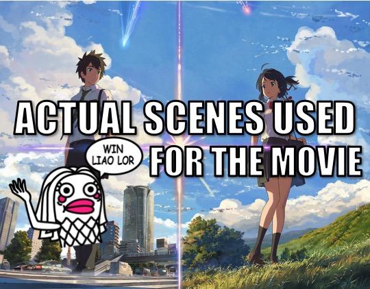 CSI done on 「KIMI NO NA WA」movie! Actual scenes used found liao!