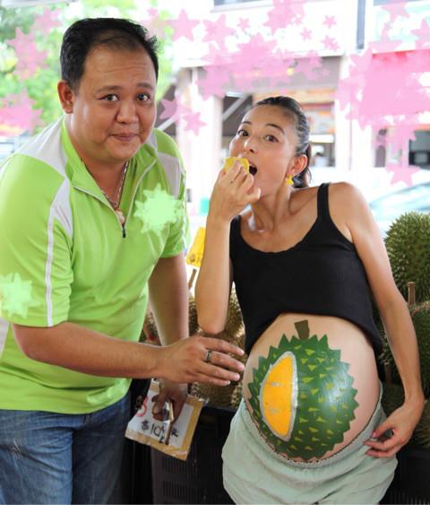 シンガポール妊娠 、妊娠38週のドリアン 【日記ちゃんブログ】