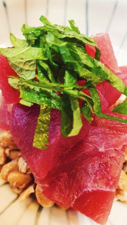 シンガポール魚王 マグロ納豆