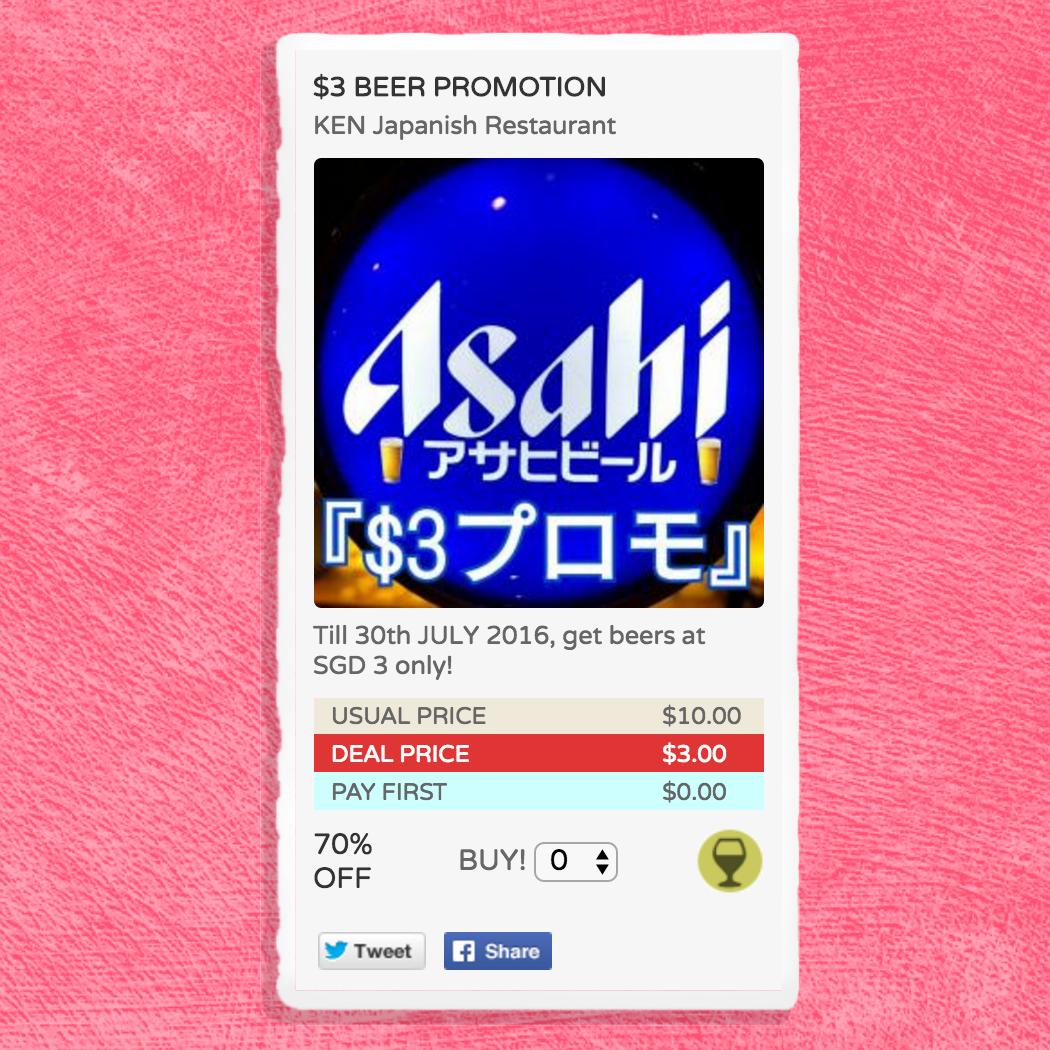 【告知】研で日本人女性スタッフが加わり生ビールS$3プロモ♡