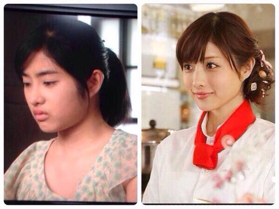 Was Japanese actress Ishihara Satomi pretty when she young?
